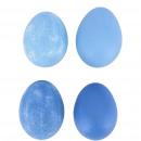 Chicken egg natural matt, H6cm, 4 colors, blue mat